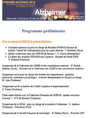 Programme préliminaire 2018